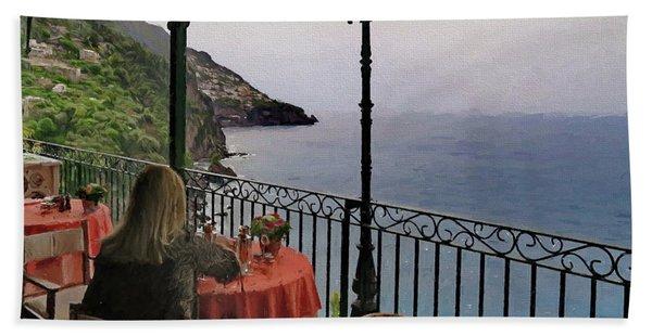 Breakfast At Il San Pietro Di Positano Italy Beach Towel
