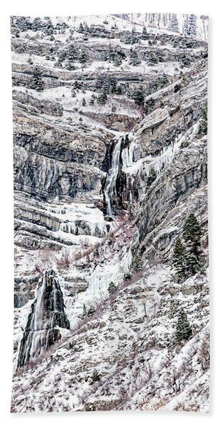 Beach Towel featuring the photograph Bridal Veil Falls Canvas Print,photographic Print,art Print,framed Print,greeting Card,iphone Case,s by David Millenheft