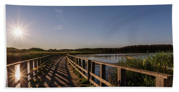 Bridge Across Shining Waters Beach Sheet
