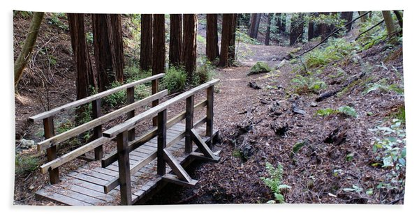 Bridge In The Redwoods Beach Towel