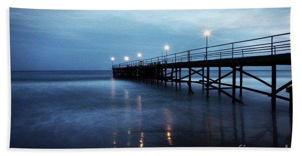Bridge In The Sea Beach Towel
