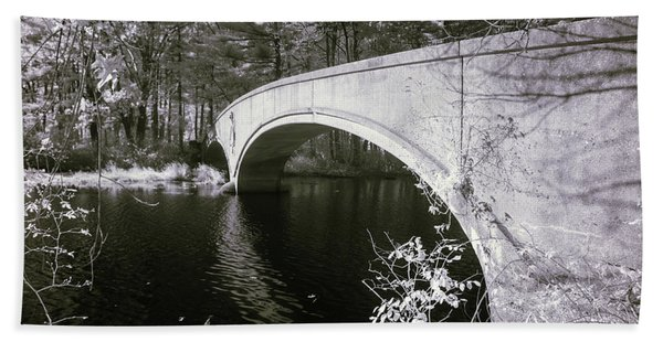 Bridge Over Infrared Waters Beach Sheet