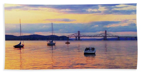 Bridge Sunset Beach Towel
