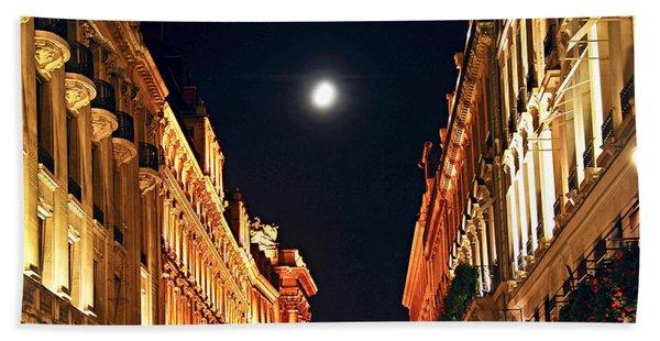 Bright Moon In Paris Beach Towel