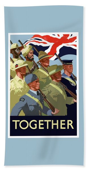 British Empire Soldiers Together Beach Towel