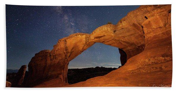 Broken Arch And Milky Way Beach Towel