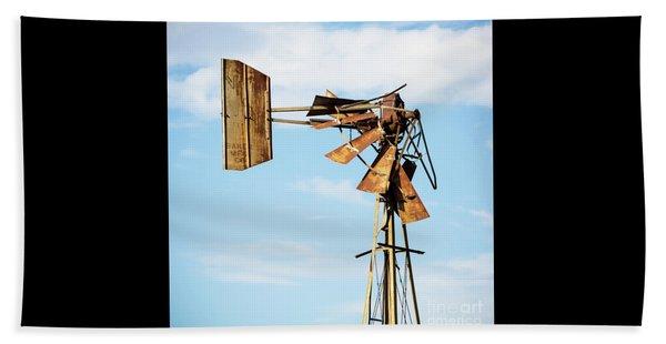 Broken Windmill Beach Towel