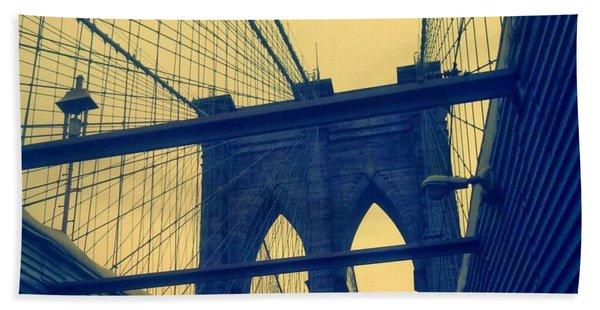 New York City's Famous Brooklyn Bridge Beach Sheet