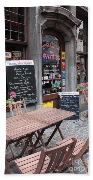 Brussels - Restaurant Chez Patrick Beach Towel