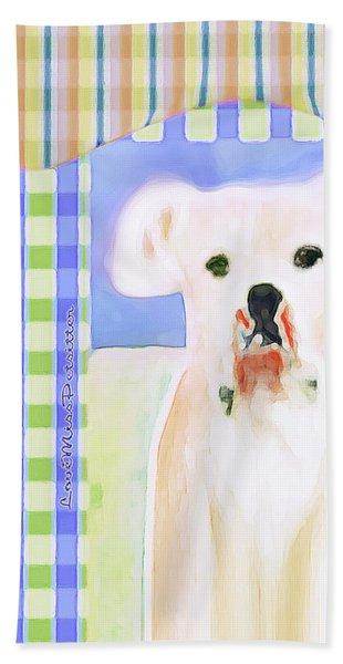 Bulldog Rana Art 40 Beach Sheet