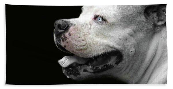 Bulldog Sando  Portrait  Beach Sheet