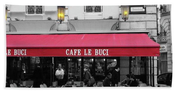 Cafe Le Buci Beach Towel