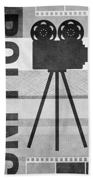 Cameras Rolling- Art By Linda Woods Beach Towel