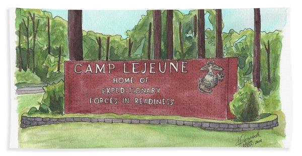 Camp Lejeune Welcome Beach Towel