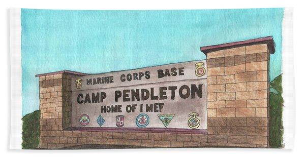 Camp Pendleton Welcome Beach Towel