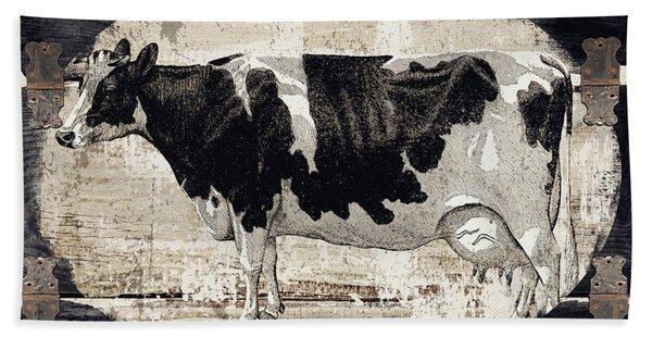 Campagne I French Cow Farm Beach Towel