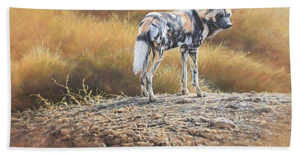 Cape Hunting Dog Beach Towel