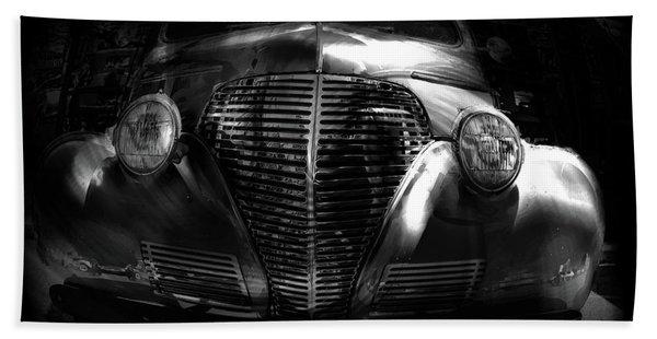Car Art 1939 In A Bubble Bw Beach Towel
