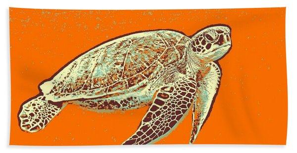 Caretta Caretta Sea Turtle Beach Towel