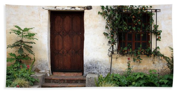 Carmel Mission Door Beach Towel