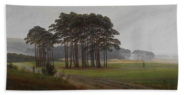 Caspar David Friedrich, Landscape Beach Towel