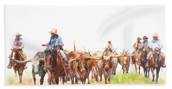 Cattle Drive Beach Towel