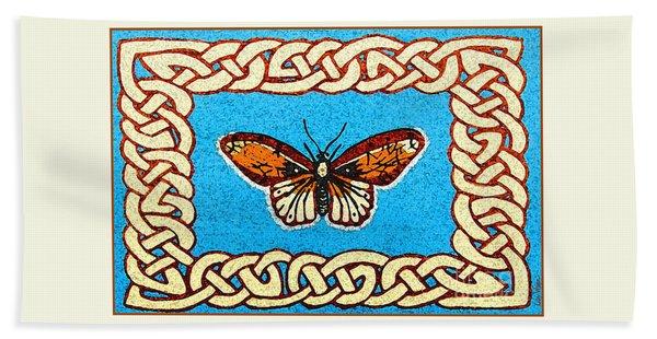 Celtic Butterfly Beach Towel