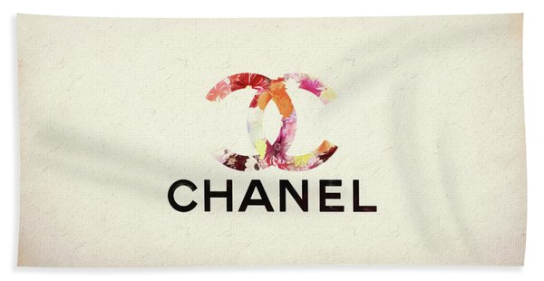 Chanel Floral Texture  Beach Towel