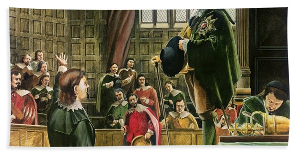 Charles I In The House Of Commons Beach Towel