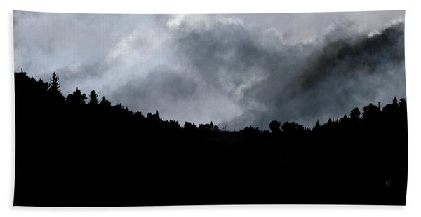 Beach Towel featuring the digital art Chasing The Storm by Mark Taylor