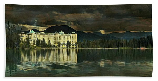 Chateau Lake Louise Beach Towel