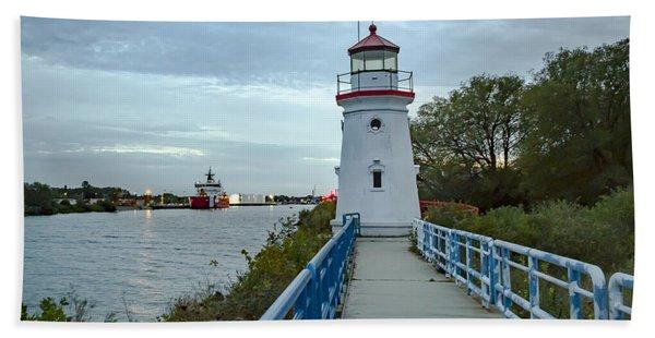 Cheboygan Crib Lighthouse Lake Huron, Lower Peninsula Mi Beach Towel