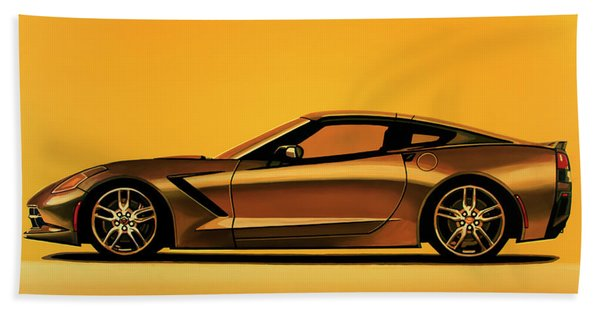 Chevrolet Corvette Stingray 2013 Painting Beach Towel
