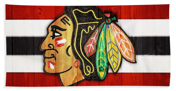 Chicago Blackhawks Barn Door Beach Towel