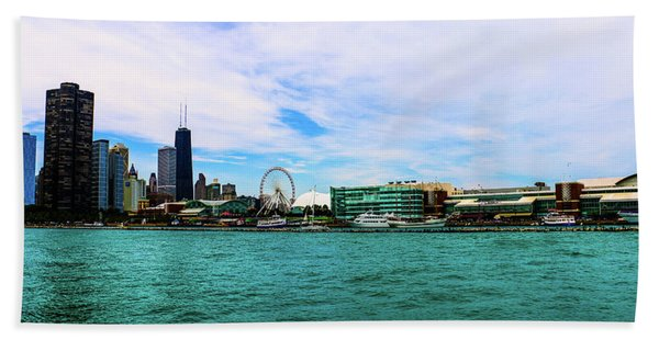 Chicago Blue Beach Towel