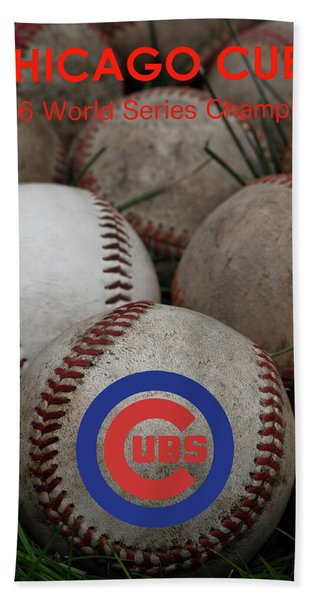 Chicago Cubs World Series Poster Beach Towel