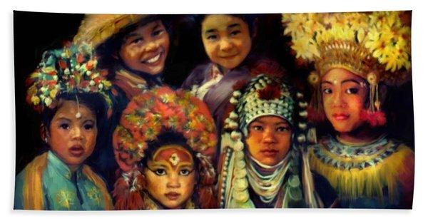 Children Of Asia Beach Towel