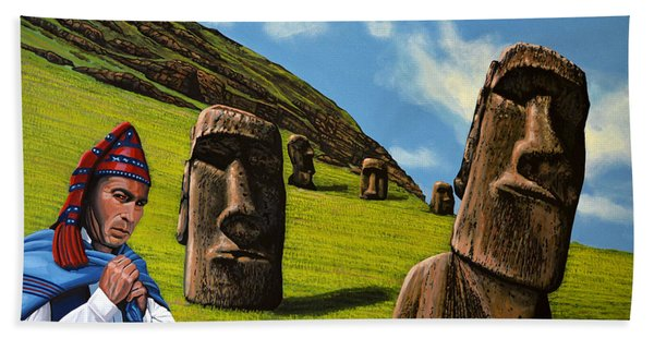 Chile Easter Island Beach Towel