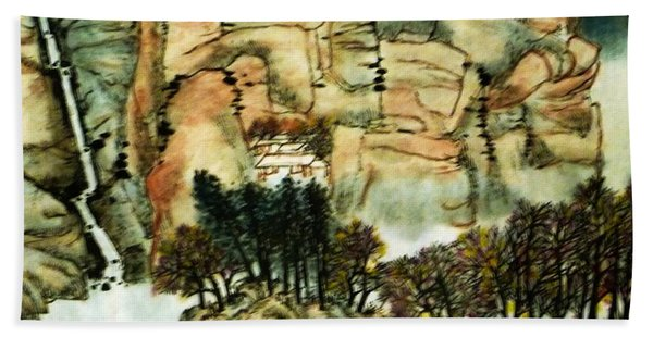 Chinese Landscape #1 Beach Towel