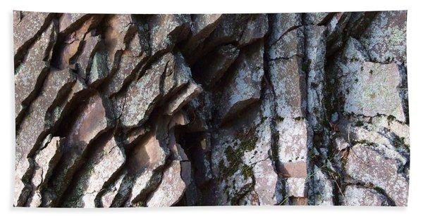 Chipped Rock Layers Photograph Beach Sheet