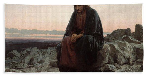 Christ In The Desert Beach Towel