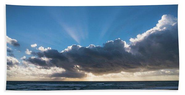 Christmas Sunrise Delray Beach Florida Beach Towel