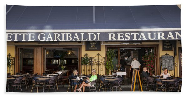 Civette Garibaldi Restaurant In Nice Beach Towel
