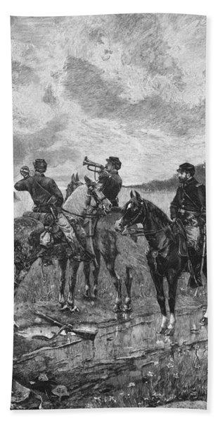 Civil War Soldiers On Horseback Beach Towel