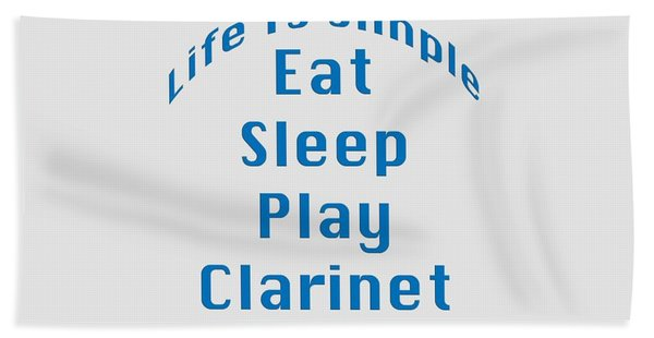 Clarinet Eat Sleep Play Clarinet 5512.02 Beach Sheet