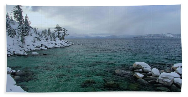 Beach Towel featuring the photograph Clarity In A Winter Storm Sundown by Sean Sarsfield