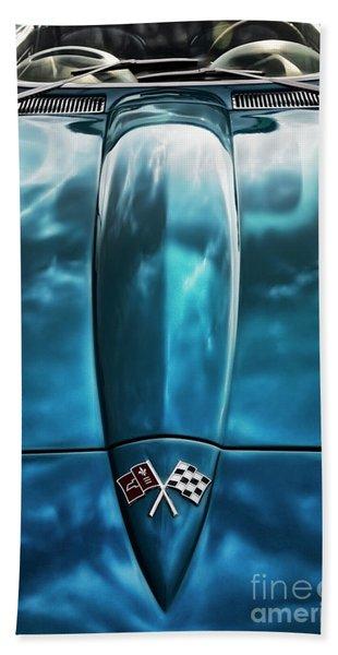 Classic Muscle - Corvette Roadster Beach Towel