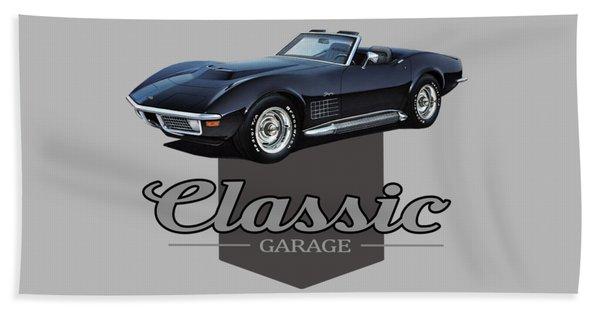 Classic Stingray Garage Beach Towel