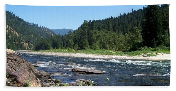 Clearwater River 2 Beach Towel