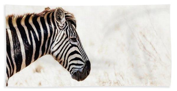 Closeup Zebra Horizontal Banner Beach Towel